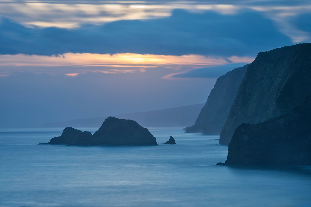 Hamakua Coast view from Pololu Valley Trail, Big Island of Hawaii.