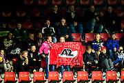 ALKMAAR - 26-10-2016, AZ - FC Emmen, AFAS Stadion, 1-0, supporters AZ, vlag.