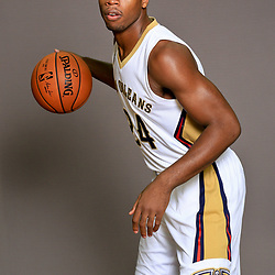 Sep 23, 2016; New Orleans, LA, USA; New Orleans Pelicans guard Buddy Hield (24) poses for a portrait during media day at the Smoothie King Center. Mandatory Credit: Derick E. Hingle-USA TODAY Sports