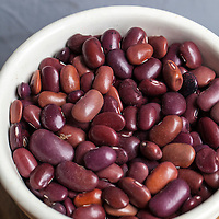 Dried heirloom 'Ayocote Morado' beans