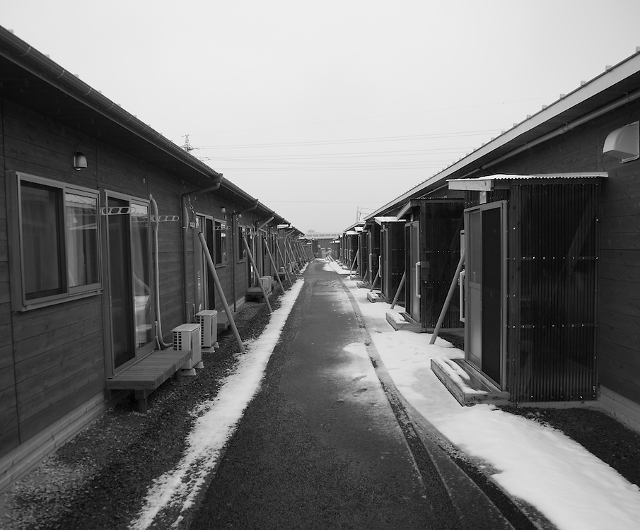 New Tempoary housing built for Nuclear  refugees in  Minami Soma