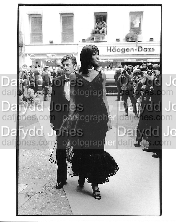 Naomi Campbell arriving at the Unzipped premiere. Cannes. 1995. © Copyright Photograph by Dafydd Jones 66 Stockwell Park Rd. London SW9 0DA Tel 020 7733 0108 www.dafjones.com