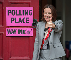 Kezia Dugdale casts her vote | Edinburgh | 8 June 2017