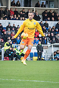 Michael Harriman (Defender) of Wycombe Wanderers on the ball during the Sky Bet League 2 match between Hartlepool United and Wycombe Wanderers at Victoria Park, Hartlepool, England on 16 January 2016. Photo by George Ledger.