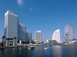 Skyline of Minato Mirai in Yokohama Japan