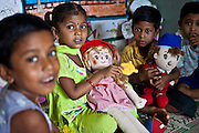 Children playing in the Agripada Centre in Mumbai. The centre is 1 of 70 centres in India run by the Mumbai Mobile Crèche organisation.