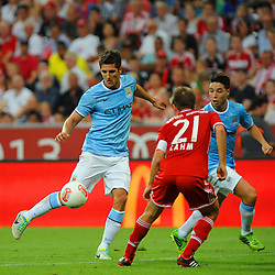 01.08.2013, Allianz Arena, Muenchen, Audi Cup 2013, FC Bayern Muenchen vs Manchester City, im Bild, Stevan JOVETIC (Manchester City), links neben Philipp LAHM (FC Bayern Muenchen) // during the Audi Cup 2013 match between FC Bayern Muenchen and Manchester City at the Allianz Arena, Munich, Germany on 2013/08/01. EXPA Pictures © 2013, PhotoCredit: EXPA/ Eibner/ Wolfgang Stuetzle<br /> <br /> ***** ATTENTION - OUT OF GER *****