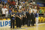 Almeria, 01/07/2005<br /> Finale Giochi del Mediterraneo Almeria 2005<br /> Premiazione Italia<br /> staff italia, claudio silvestri