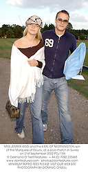 MISS JEMMA KIDD and the EARL OF MORNINGTON son of the Marquess of Douro, at a polo match in Surrey on 21st September 2002.PDJ 144