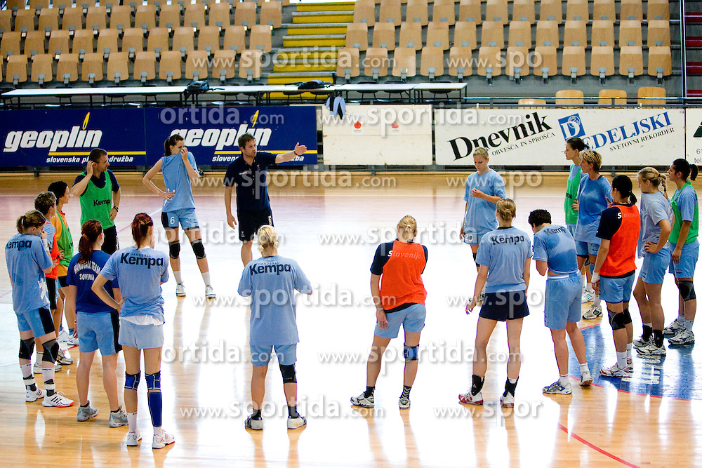 Primoz Pori at practice of Slovenian Handball Women National Team, on June 3, 2009, in Arena Kodeljevo, Ljubljana, Slovenia. (Photo by Vid Ponikvar / Sportida)