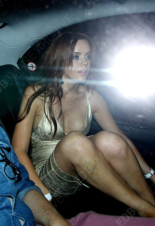 23.AUGUST.2012. LONDON<br /> <br /> MARIA FOWLER LEAVING ROSE NIGHT CLUB IN MAYFAIR AT 3.00AM LOOKING VERY WORSE FOR WEAR AS SHE HAD TO BE HELPED UP BY HER FIREND TO THE CAR AS SHE KEPT ON NEARLY FALLING OVER WITH THE BIG BRUISE ON HER LEG MIGHT HAVE SOMETHING TO DO WITH HER HAVING FAR TO MUCH TO DRINK AND FALLING OVER.<br /> <br /> BYLINE: EDBIMAGEARCHIVE.CO.UK<br /> <br /> *THIS IMAGE IS STRICTLY FOR UK NEWSPAPERS AND MAGAZINES ONLY*<br /> *FOR WORLD WIDE SALES AND WEB USE PLEASE CONTACT EDBIMAGEARCHIVE - 0208 954 5968*