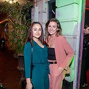 NLD/Amsterdam/20181206 - JFK Beste Geklede Man 2018, Melody Klaver en vriendin ............