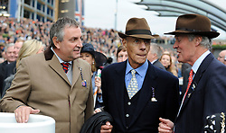 Sir Henry Cecil, 10-time champion trainer, has died at the age of 70.<br /> Responsible for 25 British Classic winners, Cecil was also the leading handler at Royal Ascot with a record 75 successes.<br /> ASCOT  20/10/12<br /> THE QIPCO CHAMPION STAKES.<br /> Trainer SIR HENRY CECIL pictured with MD of Ascot ( right ) Charles Barnett and unknown.<br /> Photo by: Racingfotos.com / i-Images.