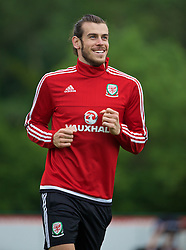 CARDIFF, WALES - Wednesday, June 1, 2016: Wales' Gareth Bale during a training session at the Vale Resort Hotel ahead of the International Friendly match against Sweden. (Pic by David Rawcliffe/Propaganda)
