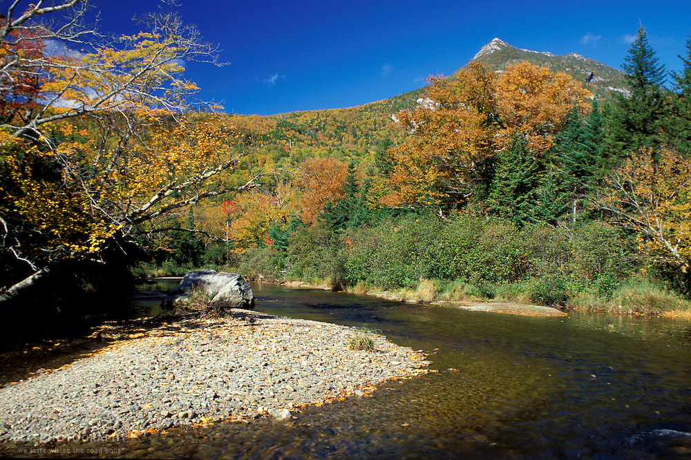 Baxter State Park, ME. Fall. Nesowadnehunk Stream and Doubletop Mountain.