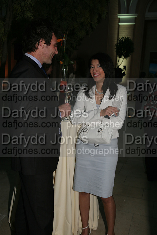 Anahita Resort launch party. Wallace Collection. London. 12 September 2007. ( Photo by Dafydd Jones) Dean Clother-Sinclair;Mallika Basu  -DO NOT ARCHIVE-© Copyright Photograph by Dafydd Jones. 248 Clapham Rd. London SW9 0PZ. Tel 0207 820 0771. www.dafjones.com.