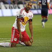 Thierry Henry, New York Red Bulls, after missing a chance during the New York Red Bulls V New England Revolution, Major League Soccer regular season match at Red Bull Arena, Harrison, New Jersey. USA. 20th April 2013. Photo Tim Clayton