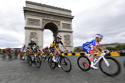 July 29, 2018 - Paris Champs-Elysees, France - PARIS CHAMPS-ELYSEES, FRANCE - JULY 29 : LAMPAERT Yves of Quick-Step Floors at the Arc de Triomphe during stage 21 of the 105th edition of the 2018 Tour de France cycling race, a stage of 116 kms between Houilles and Paris Champs-Elysees on July 29, 2018 in Paris Champs-Elysees, France, 29/07/18  (Credit Image: © Panoramic via ZUMA Press)