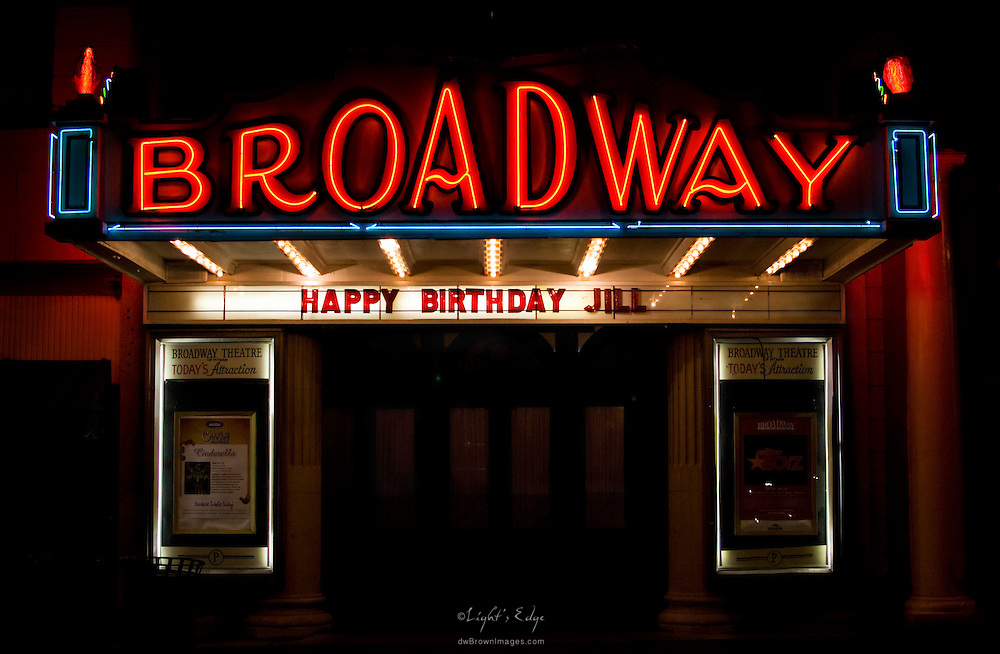 The Broadway Theater payiing tribute to Jill Slack's 50th Birthday.