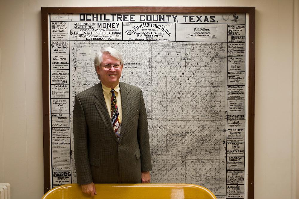 Republikaner und District Attorney und Ochiltree County Attorney Bruce Roberson im Gerichtssaal (Democratic County Court Ochiltree) von Perryton..Republikaner-Hochburg Perryton, Texas. ..© Stefan Falke