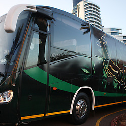 DURBAN, SOUTH AFRICA - JUNE 03, Springboks team bus during the Springboks media briefing at Beverley Hills Hotel on June 03, 2012 in Durban, South Africa<br /> Photo by Steve Haag / Gallo Images