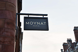 Branding at the opening party for Moynat's new Maison de Vente in Mayfair at 112 Mount Street, London W1 on 12th March 2014.