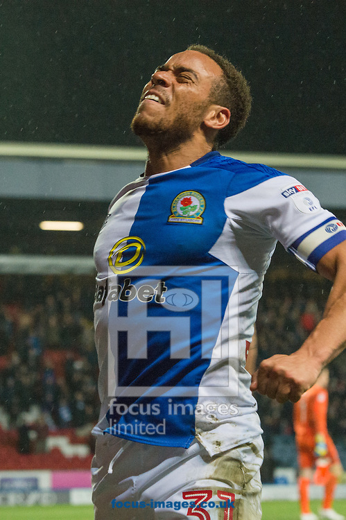 Elliott Bennett of Blackburn Rovers celebrates Craig Conway's goal during the Sky Bet League 1 match at Ewood Park, Blackburn<br /> Picture by Matt Wilkinson/Focus Images Ltd 07814 960751<br /> 29/03/2018