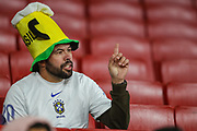A Brazil fan during the Friendly International match between Brazil and Uruguay at the Emirates Stadium, London, England on 16 November 2018.
