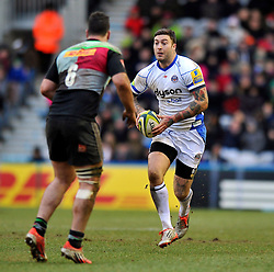 Matt Banahan of Bath Rugby in possession - Photo mandatory by-line: Patrick Khachfe/JMP - Mobile: 07966 386802 31/01/2015 - SPORT - RUGBY UNION - London - The Twickenham Stoop - Harlequins v Bath Rugby - LV= Cup