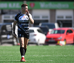 Pontypridd's Cameron Lewis<br /> Pontypridd RFC v Cardiff RFC<br /> <br /> Photographer Mike Jones / Replay Images<br /> Sardis Road, Pontypridd.<br /> Wales - 5th May 2018.<br /> <br /> Pontypridd RFC v Cardiff RFC<br /> Principality Premiership<br /> <br /> World Copyright © Replay Images . All rights reserved. info@replayimages.co.uk - http://replayimages.co.uk