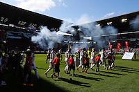 Illustration Animation Rennes - 12.04.2015 - Rennes / Guingamp - 32eme journee de Ligue 1 <br /> Photo : Vincent Michel / Icon Sport