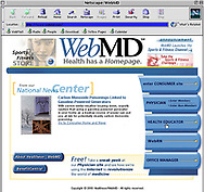 WebMD website, managed by Global Sports Interactive, is shown Thursday, Jan. 27, 2000, in Valley Forge, Pa.  (Photo/William Thomas Cain)