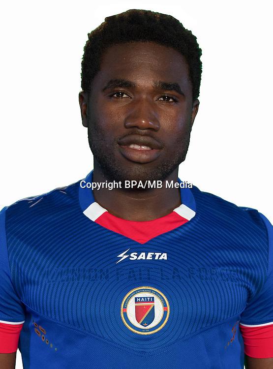 Football Conmebol_Concacaf - <br />Copa America Centenario Usa 2016 - <br />Haiti National Team - Group B - <br />Jeff Louis