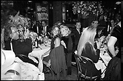 Kelly Klein; Nan Kempner, Birthday party for Yasmine Aga Khan, Mortimers. Manhattan. 16 January 1990. <br /> SUPPLIED FOR ONE-TIME USE ONLY> DO NOT ARCHIVE. © Copyright Photograph by Dafydd Jones 248 Clapham Rd.  London SW90PZ Tel 020 7820 0771 www.dafjones.com