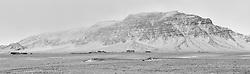 Farm and mountain scenery.Snaefellsnes, Iceland - Fjalasýn á Snæfellsnesvegi, skammt frá Snorrastöðum
