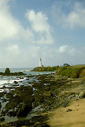 CA: Pigeon Point, California, lighthouse 2005 .Image: capigeon108..Photo Copyright: Lee Foster, lee@fostertravel.com, www.fostertravel.com, (510) 549-2202.