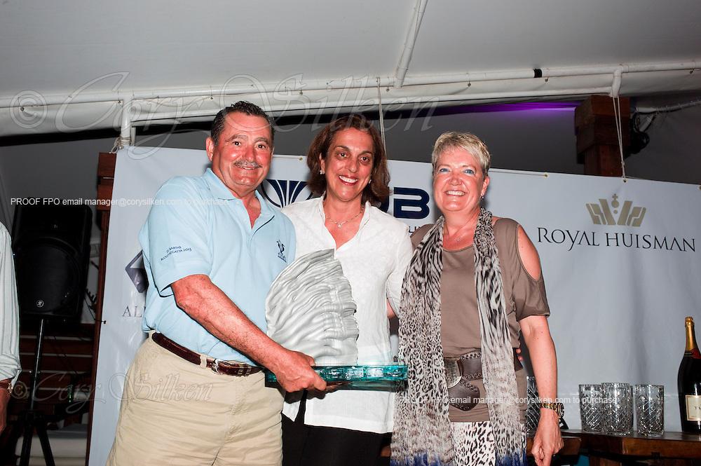 St. Barth's Bucket Regatta awards ceremony.