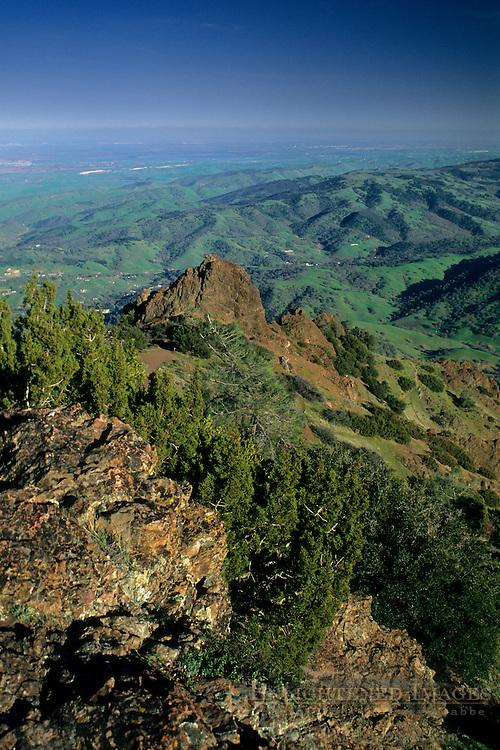 View looking SE from atop Mt. Diablo, Mount Diablo State Park, Contra Costa County, CALIFORNIA