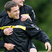 St Johnstone pre-seson training....24.06.11<br /> Graham Gartland and David Robertson<br /> see story by Gordon Bannerman Tel: 07729 865788<br /> Picture by Graeme Hart.<br /> Copyright Perthshire Picture Agency<br /> Tel: 01738 623350  Mobile: 07990 594431