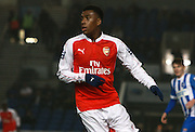 Arsenal midfielder Alex Iwobi during the Barclays U21 Premier League match between Brighton U21 and Arsenal U21 at the American Express Community Stadium, Brighton and Hove, England on 30 November 2015. Photo by Bennett Dean.