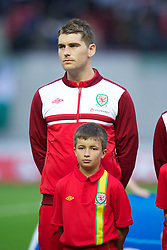 LLANELLI, WALES - Wednesday, August 15, 2012: Wales' Sam Vokes before the international friendly match against Bosnia-Herzegovina at Parc y Scarlets. (Pic by David Rawcliffe/Propaganda)