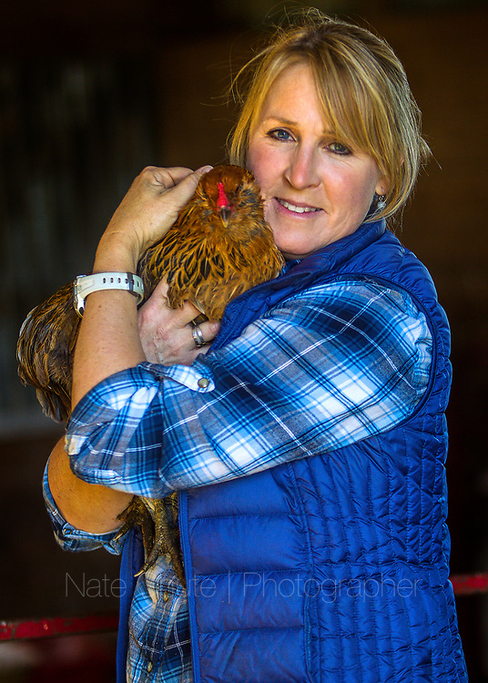 At Silver Valley Farm with Wendy Feller outside Crawfordsville, Ind.