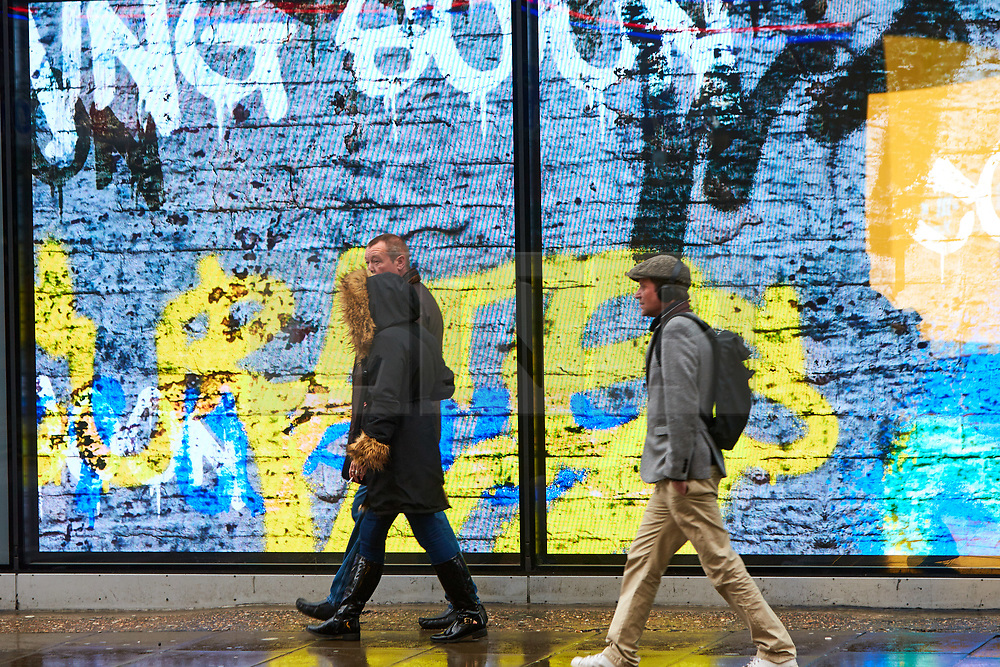 © Licensed to London News Pictures. 03/03/2019. LONDON, UK.  Shoppers walk past the designer clothing shop Flannels on Oxford Street. The soon to open location is opposite the existing Sports Direct store and is part of the retail empire of billionaire Mike Ashley (not pictured). Photo credit: Cliff Hide/LNP
