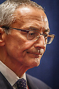 Campaign manager for Hillary Clinton, Joe Podesta. Images from the spin room after the Presidential Debate in St. Louis between Donald J. Trump and Hillary Clinton.