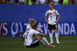 June 29, 2019 - Rennes, France - Svenja Huth (FFC Turbine Potsdam) and Alexandra Popp (Vfl Wolfsburg) of Germany look dejected at full-time after during the 2019 FIFA Women's World Cup France Quarter Final match between Germany and Sweden at Roazhon Park on June 29, 2019 in Rennes, France. (Credit Image: © Jose Breton/NurPhoto via ZUMA Press)