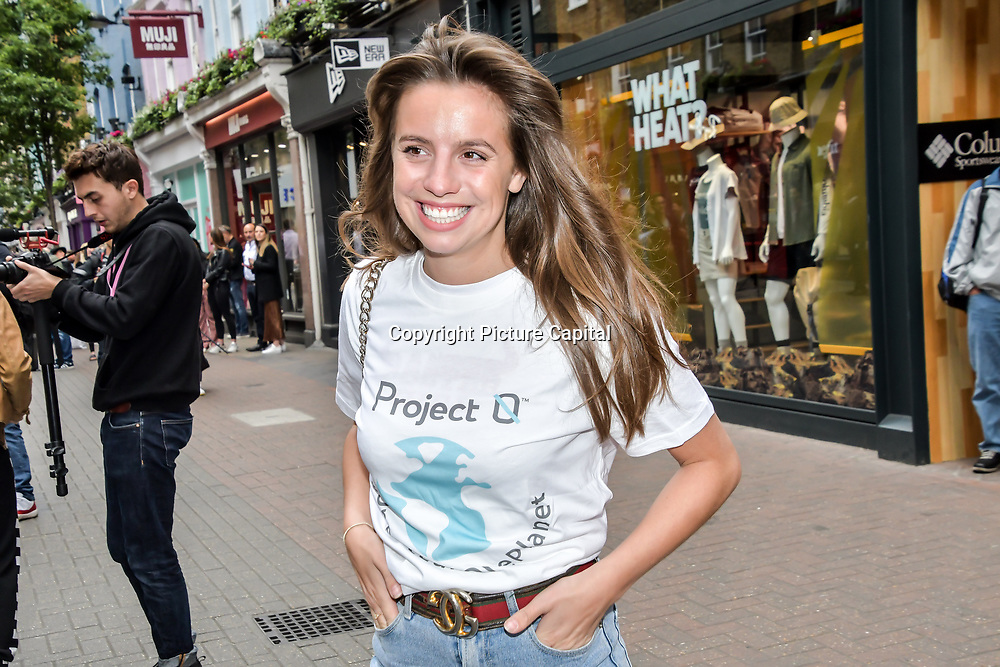 Annie Dobler for  World Ocean Day - Project 0 Ambassadors unveil One Ocean One Planet on Carnaby Street, on 4 June 2019, London, UK.