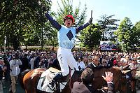 Joie Jacques RICOU - 17.05.2015 - Grand Steeple Chase de Paris <br />Photo : Dyga / ScoopDyga / Icon Sport<br />  *** Local Caption ***