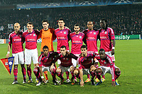 FOOTBALL - UEFA CHAMPIONS LEAGUE 2011/2012 - GROUP STAGE - GROUP D - OLYMPIQUE LYONNAIS v AJAX AMSTERDAM - 22/11/2011 - PHOTO EDDY LEMAISTRE / DPPI - TEAM LYON (BACK ROW LEFT TO RIGHT : CRIS / KIM KALLSTROM / HUGO LLORIS / DEJAN LOVREN / LISANDRO LOPEZ / JIMMY BRIAND / BAFETIMBI GOMIS . FRONT ROW : MICHEL BASTOS / ANTHONY REVEILLERE / YOANN GOURCUFF / ALY CISSOKHO )