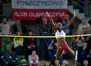 Yarisley Silva of Cuba competes in women's pole vault during indoor athletics meeting Pedro's Cup 2013 at Luczniczka Hall in Bydgoszcz, Poland...Poland, Bydgoszcz, February 12, 2013..Picture also available in RAW (NEF) or TIFF format on special request...For editorial use only. Any commercial or promotional use requires permission...Photo by © Adam Nurkiewicz / Mediasport