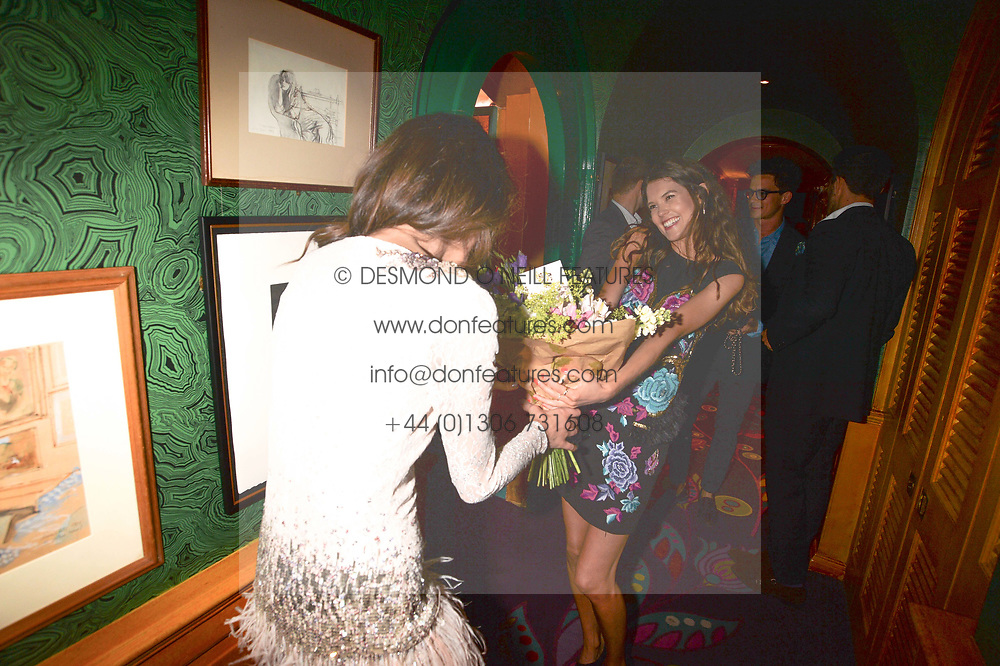 Left to right, Rosanna Falconer and Sarah Ann Macklin at the  Annabel's Bright Young Things Party at Annabel's, Berkeley SquareLondon England. 8 June 2017.<br /> Photo by Dominic O'Neill/SilverHub 0203 174 1069 sales@silverhubmedia.com